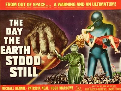 The Day the Earth Stood Still T-Shirt Gents Ladies Kids Sizes Robot Movie Film